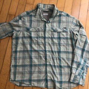 Men's Columbia XL Omni-shade button down shirt